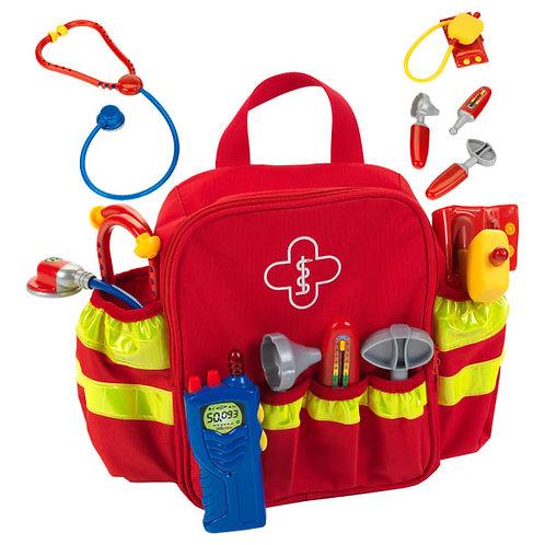 Erste-Hilfe Rucksack fuer Kinder, Notfallrucksack von KLEIN, Spielzeug klein, Stethoskop fuer Kinder