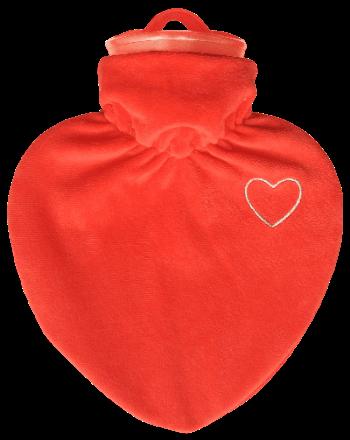 Bettflasche, Velours, Stoff, Geschenk, Herz, Bauchschmerzen, Wohltuend