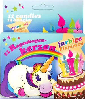 Regenbogen-Einhorn-Kerzen-Einhorn Kerzen-Farbige Kerzen-Geburtstagparty Maedchen-Kindergeschenke-Einhorn Party-Deko Fest