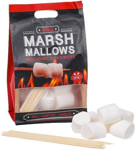 Grillen, Sack, Marshmallows, Süssigkeiten, BBQ, Feuer, Stäbe, Originelles-Geschenk