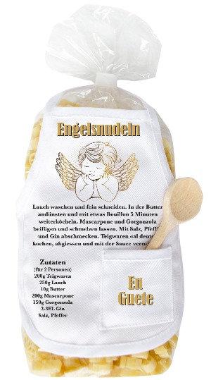 Engel, Nudeln, Pasta, Teigwaren, Rezept, Zutaten, Lauch, Schutzengel, Glauben, Flügel, Geschenk