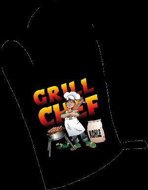 Grillhandschuh, Grillchef, Handschuh zum Backen, Grillieren, backen, kochen, Geschenke, Geschenke für Maenner und Frauen