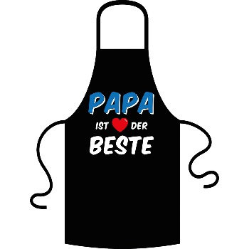 Vatertag, Papa ist der Beste, Schürze, Kochen, Kochschürze, Stoff, Geschenk, Papi, Vater