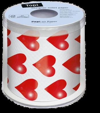 Herz, Verpackung, Toilettenpapier, WC-Papier, Papier, originelles, Geschenk, witziges, Geschenk, Liebe, Romantik