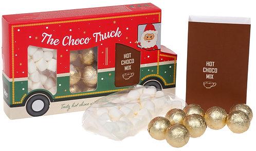 Schokoladen Geschenk, Choco Truck, Geschenkset Weihnachten, Truck Geschenk mit Schokolade, Marshmallows, Heisse Schokolade