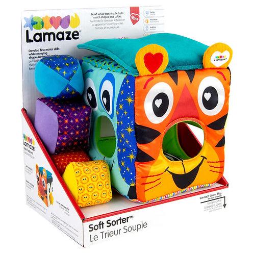 Sortierwuerfel mit Tieren, Sortierwuerfel Baby, Babygeschenk ab 9 Monaten, Lamaze, Babyspielzeug aus Stoff, Feinmotorik Spiel
