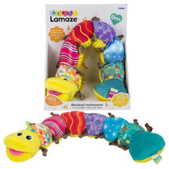 Lamaze Musikwurm, Baby Spielzeug, Musikspielzeug, Raupen Spiel, Baby Geschenk, Lamaze