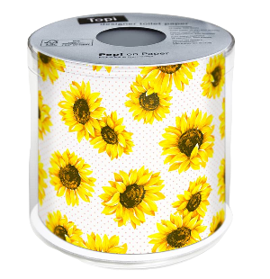 Sonnenblumen, Toilettenpapier, WC-Papier, Sommer, Geschenk, lustig, witzig, Präsent, Mitbringsel