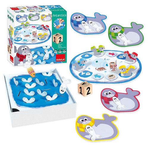 Brettspiel ab 2 Jahren, Wuerfelspiel fuer Kleinkinder, Antarktis Brettspiel, Geschenk fuer Kinder ab 2 jahren, Pinguin