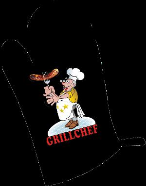 Grillchef, Bratwurst, Grillhandschug, Kochhandschuh, Grillen, Kochen, Backen, Wurst, Braten, Gabel, Geschnke fuer Maenner