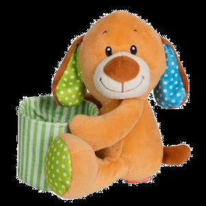 Hund, Plüsch, Stofftier, Geschenk, Kinder, Stifte, Schreiber, Halter, braun, gruen, Stiftehalter, Kuscheln