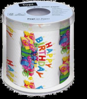 Geschenke, Geschenkband, Farben, Happy-Birthday, Geburtstag, Fest, Party, WC-Papier, Rolle, rot, violett, blau, gelb, orange