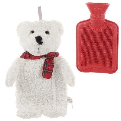Eisbaer Bettflasche für die kalte Jahreszeit, Geschenk aus Pluesch fuer Kinder