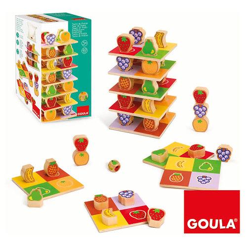 Stapelspiel Fruechteturm von GOULA, Holz Spiel, Holzspiel Kinder, Kinder Spielzeug, Holzspielzeug