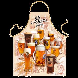 Bier Garten-beergarden-Schuerze-verschiedene Biere-Geschenke für Maenner-Geschenk-Geburtstag-Grillschuerze-Kochschuerze-Bier