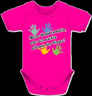 Babybody mit Handabdruecke und Spruch, Babygeschenk, Body fuer Maedchen und Jungs
