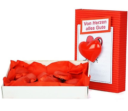 Geschenkbox von Herzen alles Gute, Box, Schachtel, Magnet, Herz, Liebe