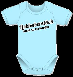 Baby Body, Liebhaberstück Geschenk fuer Babys, Geschenk Body, blauer Baby Body