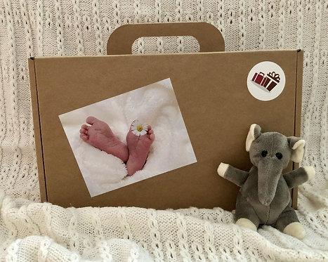 Geschenk Koffer Baby zur Geburt, dass schoene Baby Geschenkset