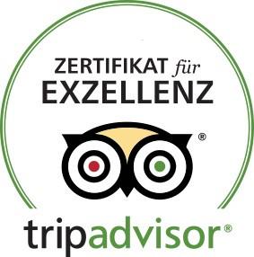 b) Tripadvisor Zertifikat für Exzellenz
