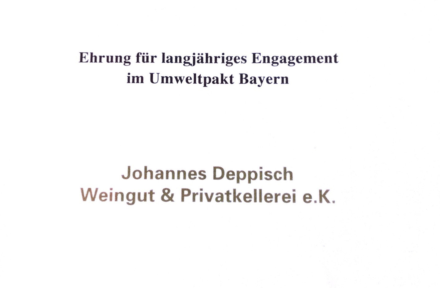 c) Umweltpakt Bayern Urkunde