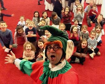 spettacolo per bambini, magia. giochi, canzoni, lerry, elfo, comico, natale, festa, musica