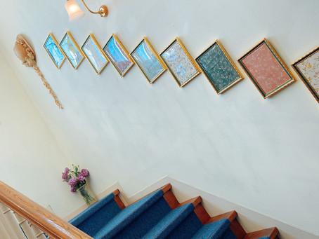 壁紙と階段