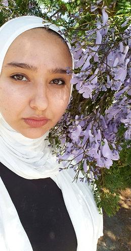 White silky Jersey hijab