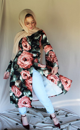 Romantic rose Wrap Dres