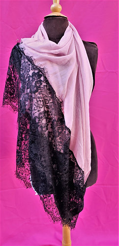 Viscose Black Lace Hijab