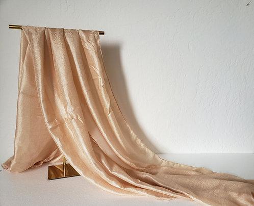 Creme Textured Silk Hijab