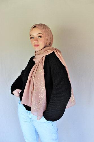 Glitter Motif Georgette Hijab (4 colors)