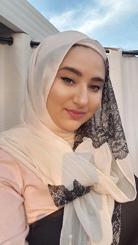 Chiffon Lace Tassel hijab