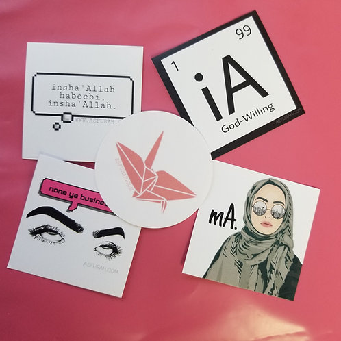 Asfurah Sticker 5 Pack