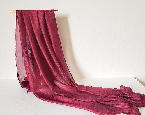 Burgandy Textured Silk Hijab