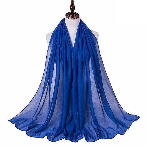 Electric Blue Viscose Hijab