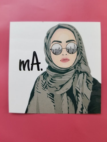 mA sticker