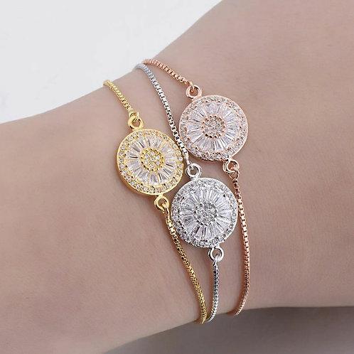 Drawstring crystal bracelet