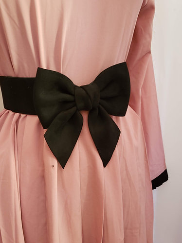 Black Bow Pink Dress