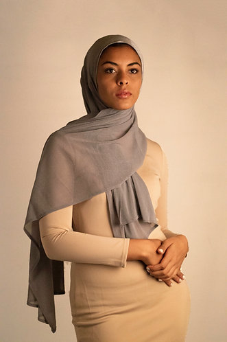 Silver Chainmail Stretchy Hijab