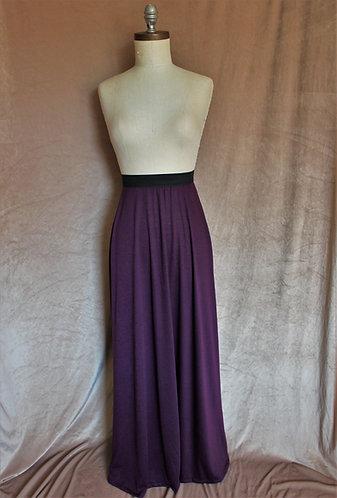 Eggplant High-Waist Skirt