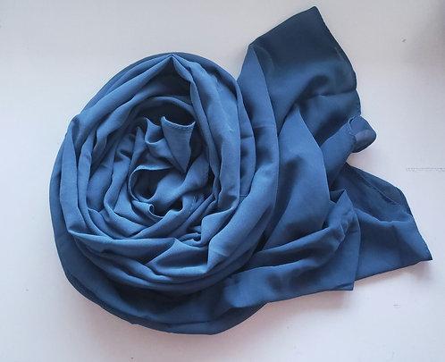 Peacock blue Georgette Hijab
