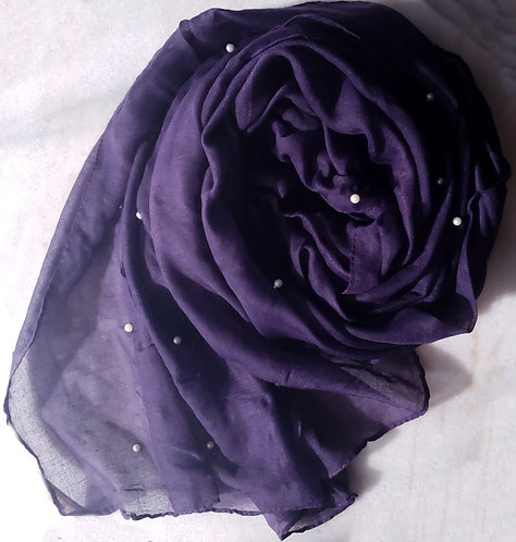 Eggplant Pearl Viscose Hijab
