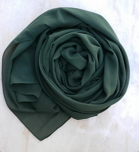 Forest Green Georgette hijab