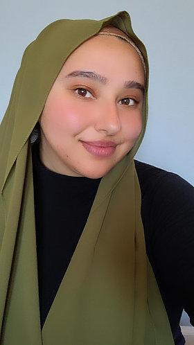 Olive Green Georgette hijab