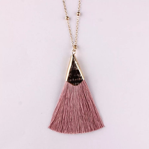 Long Tassle pendant necklace