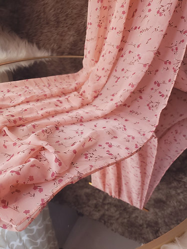 Pink Blossom Chiffon Hijab
