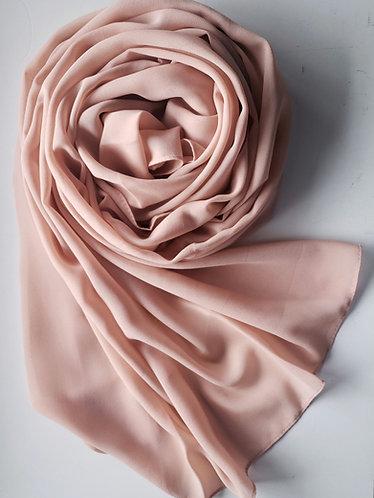 Beige peach georgette Hijab