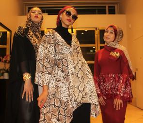 Cheeta Duster +Red Peplum top and skirt+ Sheba Kimono