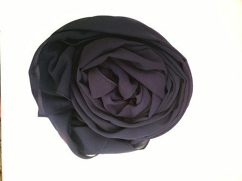 Navy Blue Georgette Hijab